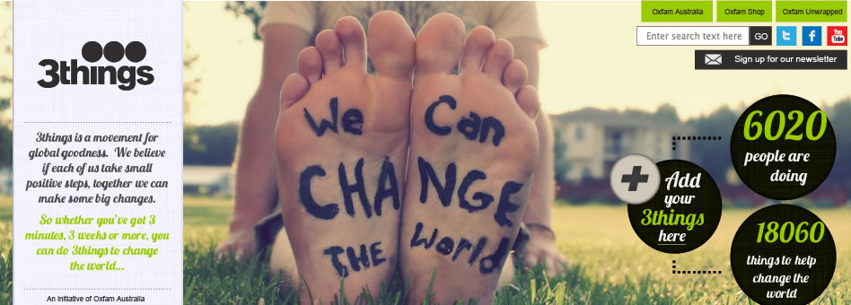 Change the world 3things at a time