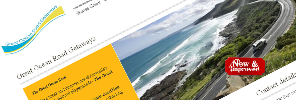 New and improved - Great Ocean Road Getaways website
